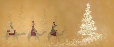 圣诞节定期的三位国王 皇族释放例证