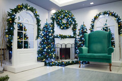 圣诞节客厅 免版税库存照片