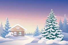 圣诞节客舱 库存图片