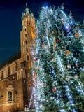 圣诞节室外结构树 图库摄影