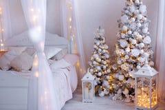 圣诞节家庭内部 图库摄影