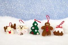 圣诞节家庭装饰 免版税库存照片