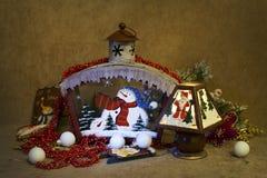 圣诞节家庭装饰 库存图片