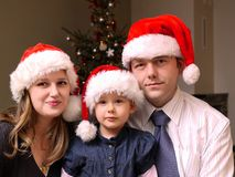 圣诞节家庭画象 库存照片