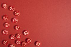 圣诞节宾果游戏编号平的样式 免版税图库摄影