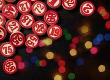 圣诞节宾果游戏编号平的样式 库存图片
