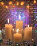 圣诞节对光检查卡片材料的照片 库存图片