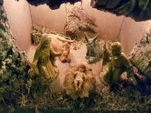 圣诞节小儿床在意大利房子里 免版税库存照片