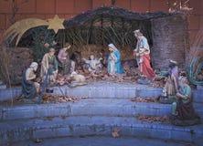 圣诞节小儿床场面 免版税图库摄影