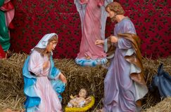 圣诞节小儿床形象 库存图片