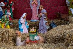 圣诞节小儿床形象 免版税库存照片