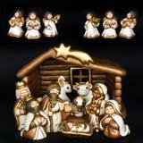 圣诞节小儿床诞生场面 免版税库存照片
