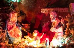 圣诞节小儿床 免版税图库摄影