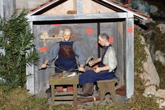 圣诞节小儿床 免版税库存照片