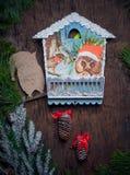 圣诞节小时 圣诞节的Decaradio集合 库存图片