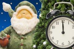 圣诞节小珠手表和礼品券 免版税库存照片