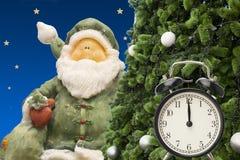 圣诞节小珠手表和礼品券 免版税库存图片