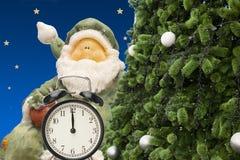 圣诞节小珠手表和礼品券 库存图片
