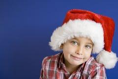 圣诞节小的快活的圣诞老人 库存图片