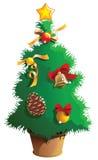 圣诞节小的结构树 库存照片