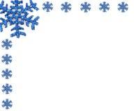 圣诞节小的雪花雪花 免版税库存照片