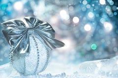 圣诞节小装饰品,文本空间 图库摄影