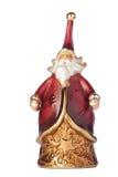 圣诞节小雕象圣诞老人 免版税库存照片