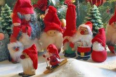 圣诞节小雕象的构成 库存照片