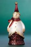 圣诞节小雕象雪人 图库摄影