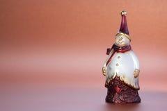 圣诞节小雕象雪人 免版税库存照片