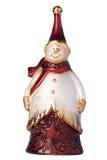 圣诞节小雕象雪人 库存图片