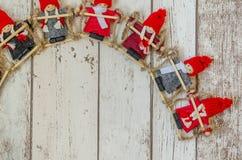 圣诞节小雕象 库存图片