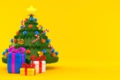 圣诞节少量礼品结构树 库存例证