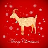 圣诞节山羊 免版税库存图片