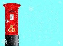 圣诞节岗位箱子 免版税库存照片