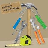 圣诞节工具结构树 免版税库存照片