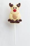 圣诞节巧克力棒棒糖 免版税库存照片