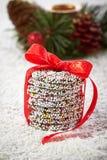 圣诞节巧克力洒 免版税库存照片