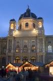 圣诞节市场博物馆维也纳 免版税图库摄影