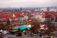 圣诞节市场在埃福特,德国 库存照片