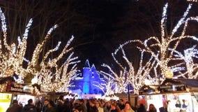 圣诞节市场在安特卫普,比利时 免版税库存图片