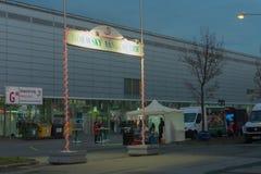 圣诞节市场在布尔诺展览会 免版税库存照片