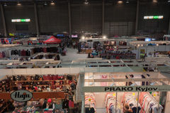 圣诞节市场在布尔诺展览会 库存照片