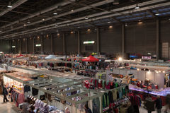 圣诞节市场在布尔诺展览会 免版税图库摄影