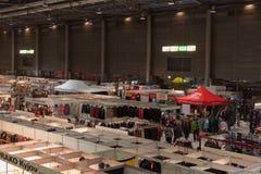 圣诞节市场在布尔诺展览会 免版税库存图片