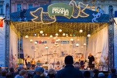 圣诞节市场在布拉格(联合国科教文组织),捷克共和国 免版税库存图片