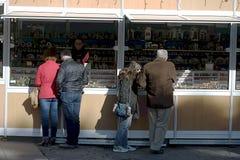 圣诞节市场在广场Nueva在塞维利亚04 库存照片