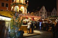 圣诞节市场在弗罗茨瓦夫,波兰 免版税库存照片