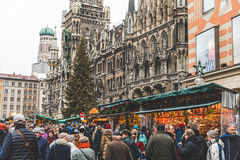 圣诞节市场在慕尼黑,德国 免版税库存照片