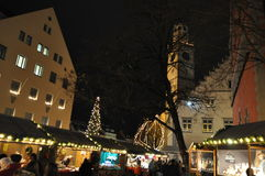圣诞节市场在拉芬斯堡 免版税库存图片
